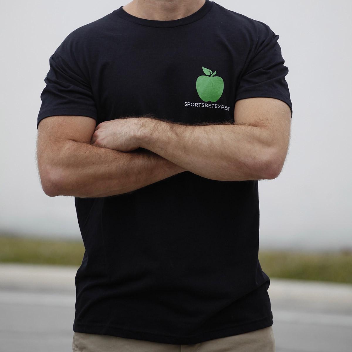 Sports Bet Expert black t shirt - front