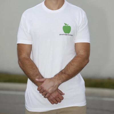Sports Bet Expert - white t shirt - front logo